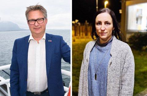 Stengt fødeavdeling vil påvirke tilflytning i kommunene, mener ordfører i Smøla kommune Svein Roksvåg og ordfører i Aure kommune Hanne-Berit Brekken.