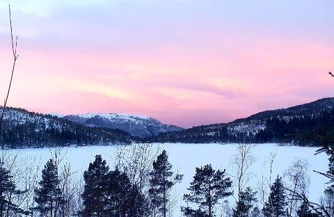 LITE TILSIG: En uvanlig tørr og kald vinter fører til at Lerøy Midt avdeling Botn må søke om å få tappe ned Reinslivatnet til under laveste regulerte vannstand. Det mener NVE at bedriften i Valsøybotn må få lov til denne gang.