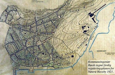 STORT OMRÅDE: Hagebyen begynner på Kolberg, går ned Eikveien, bort Bekkeveien til vannet og følger det til Sjøormen, til Teie veidele mot Kaldnes og opp i Teieskogen og til Kolberg igjen.