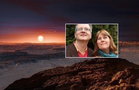 SE OPP: Astrofysiker Knut Jørgen Røed Ødegaard og sci-fi-forfatter Anne Mette Sannes kommer til Nøtterøy kulturhus med sitt show «Out of Space» torsdag 1. mars.