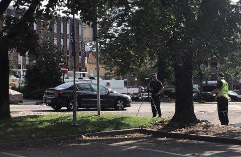TATT: Det var her Oslo-mannen ble hanket inn etter at UP-betjentene mente de hadde observert han med mobil i hånda. Bildet er tatt under en tilsvarende kontroll på samme sted i august 2019.