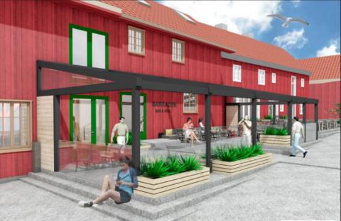 GODKJENT: Rådmannen mener at endringen som er gjort gjør at konstruksjonen underordner seg den verneverdig bygningen tilstrekkelig nok til at den opprinnelige bebyggelsen fortsatt bevares i sin opprinnelige stil.