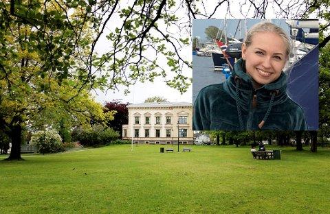 PIKNIK: Sandra Strand gleder seg til Pride-arrangement i Gunnarsbøparken førstkommende fredag.