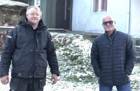 Venner og forretningspartnere: - Det var Rune som fikk meg med på dette, sier Knut Olav Bjorvatn. De kjenner hverandre godt fra før. Foto: Siri Fossing