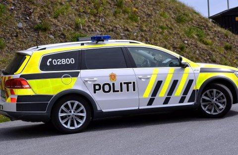 Politiet hadde laserkontroll i Etnedal søndag.