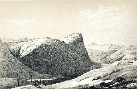 Vang Historielag skal besøke stedet hvor denne akvarellen ble malt, 200 år senere.