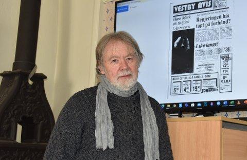 SOMMERJOBB: Som 21-åring var Jørn Svendsen, dagens leder i Vestby Historielag, selv med på å dokumentere for NVE, i forbindelse med planene om å bygge atomkraftverk i 1972.