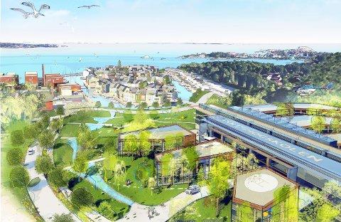 NY SKOLE: Sjøparken på Agnes ved Stavern er ett av Larviks to alternativer for en ny Politihøgskole.