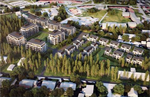 STORE PLANER: OBOS Nye Hjem og Løvenskiold skal bygge mange nye boliger på området der Maxbo Ås ligger i dag. Naboer har klaget på vedtaket om å godkjenne planene.