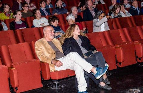"""Vibeke Løkkeberg var på """"Stolnedgang"""" i Ås kinoteater i juni 2018 sammen med ektemannen Terje Kristiansen, som er tidligere kinosjef i Ås."""