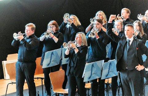TIL TOPPS: Oster Brass til topps i den øvste divisjonen i korpskonkurranse i Danmark.