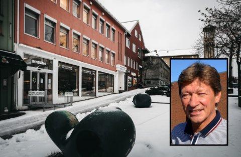 Bodø kommunale pensjonskasse holder til i sentrum av byen. Innfelt: Styreleder Einar Lier Madsen.