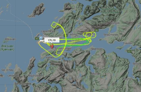 Et svensk flyselskap sirklet rundt Bodø mandag ettermiddag.