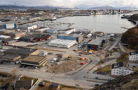Arbeider: Det er her i krysset Nordstrandveien/Burøyveien arbeidet foregår. I løpet av året regner fylkeskommunen med å være ferdig.