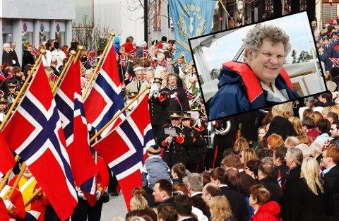 Kristen Gislefoss sier værvarselet for årets 17. mai ennå er ustabilt, men garanterer for at det ikke blir en spesielt varm dag i Bodø.