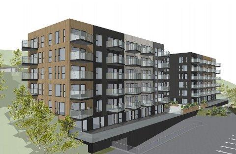 Corponor planlegger å byge 81 leiligheter fordelt på to blokker i Bodøsjøen.