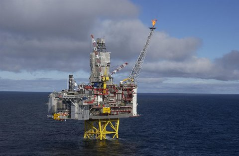 Kvitebjørn-plattformen er nå isolert på grunn av helikopterproblemer. (ARKIV)