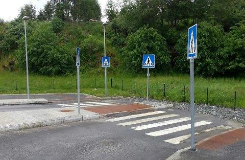 Her kan du ganske trygt krysse veien.