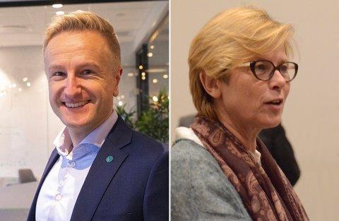 Villige: Venstre ved Jan Erik Søndeland og Høyre ved Elin Schanche er begge ivrige for sentrumsutvikling i Vikevåg.
