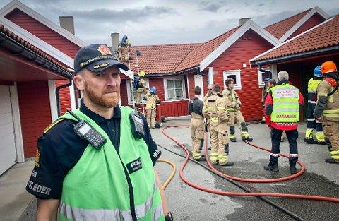 Kjetil Østråt, innsatsleder i politiet.