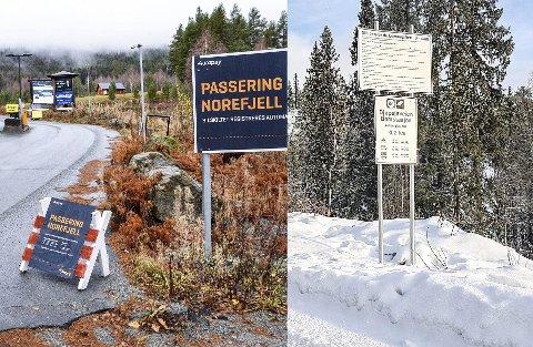 To selskaper: I Krødsherad er det Onepark som drifter bommen opp til Norefjell, mens det i Sigdal er Youpark                      som drifter bommen opp til fjellet.  Arkivfoto/Arild R. Hansen