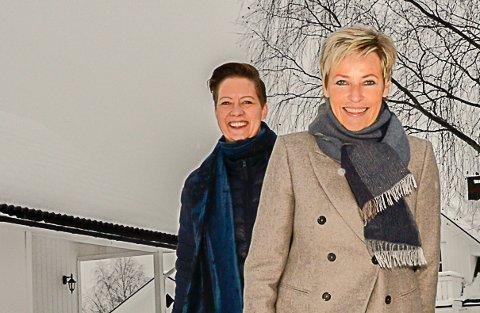 FORNØYDE: Hilde Søraas Grønhovd (f.v.) og Tine Norman, er en dag etter lanseringen, strålende fornøyd med responsen på den nye stillingsportalen