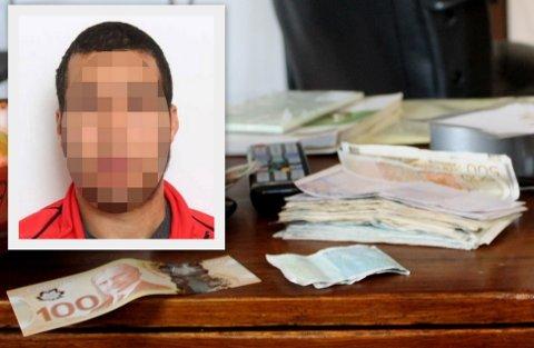 Politiet fant et bilde med denne seddelbunken på et kamera som 31-åringen hadde.