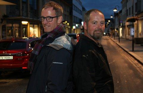 FOR OG MOT: Kenneth Bjørbæk-Standal (t.v.) og Steven Standal er brødre. Ein av dei er for Trump, den andre er mot.