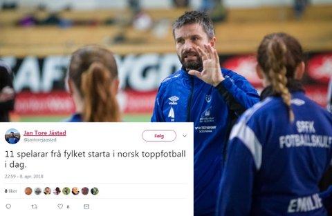 BRA: Jan Tore Jåstad, spelarutviklar i fotballkrinsen, meiner vi skal vere stolt over kor mange fotballspelarar som kjem frå Sogn og Fjordane.