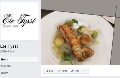 DUKKA NYLEG OPP: Denne Facebook-sida dukka opp 22. august, og hintar om ein kommande restaurant i Førde.