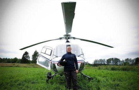 KOMMANDE PILOT: Silje Molland Løkstad (28) frå Jomfruland ser fram til å kunne kalle seg sjølv for pilot.