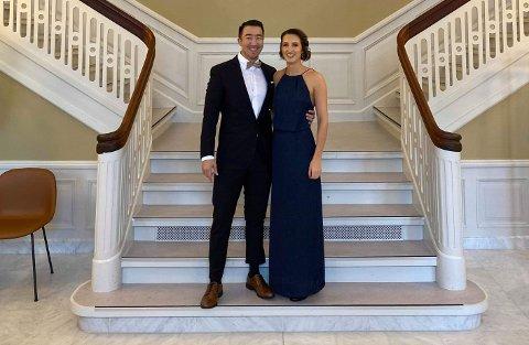 VALENTINSBRYLLAUP: Ingrid Nygård  og Morten Strid gifta seg på valentinsdagen, på dagen tre år etter at dei vart kjærastar.