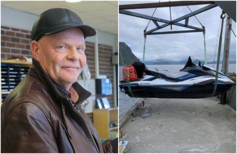 FERIE: Anders Haave skal køyre vasscooter frå Stavang til Nord-Norge.