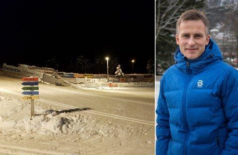GODT GRUNNLAG: Naturleg snøfall og nok minusgrader til stor kunstsnøproduksjon gjer at Langeland skisenter har produsert eit godt nok grunnlag til å kunne garantere snø til eit Norgescuprenn i februar. Men i løypene er det berre løparane som får vere.