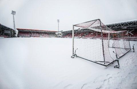 STENGT: Fredrikstad Stadion er vinterstengt inntil videre.