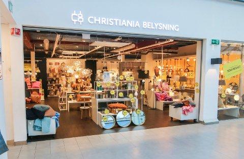 Sluttsalg: Christiania Belysning avvikler butikken i tredje etasje i Torvbyen i løpet av våren. Den er ikke lønnsom nok.