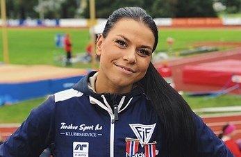 Marlene Aakre debuterte i mangekamp-NM innendørs sist helg.