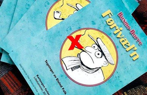 SENSURERT: Tegninga på omslaget av boka til Busmo-Børre, «Førivæl'n», sensureres i flere ulike plattformer, blant annet på Facebook.