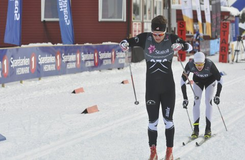 STERK: Johan Sørum Gangsø fra Gran IL og Team Hadeland Langrenn imponerte med en 8. plass i junior-NM fredag.