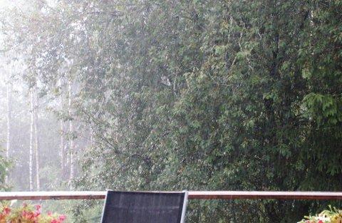 VAKKERT SKUE: Sjelden har så mange ventet så mye på ei regnskur.