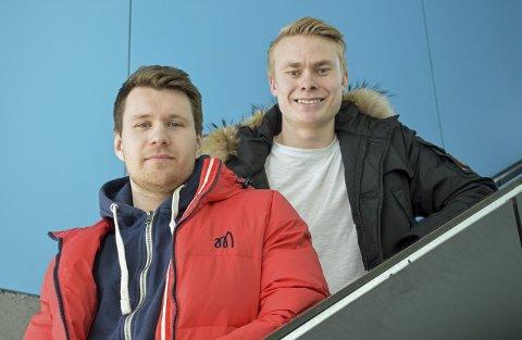 Gleder seg: Seriestart er under en måned unna, og Mathias Engebretsen og Ole Strømsborg gleder seg.foto: kristian bjørneby