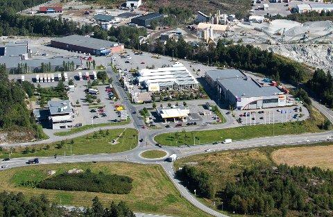 Flyfoto av Svinesundsparken.
