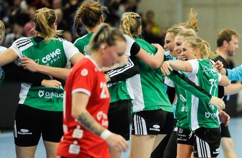 Malene Staal og Oldenburg kunne juble for seier i det tyske sluttspillet.