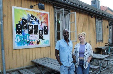 ÅPNET: Anthony Monbelly og Beate Fenstad har endelig åpnet dørene igjen til Ungdomshuset Domino.