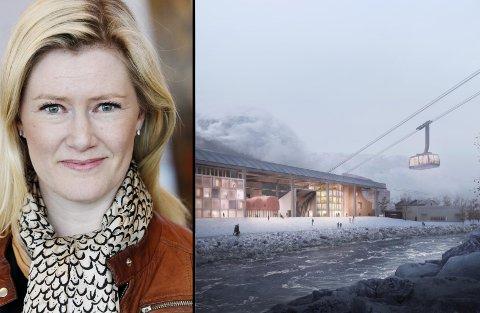 TIL ODDA: Hilde Charlotte Solheim er styreleder i Visit Hardangerfjord, og er en av flere foredragsholdere under et åpent temamøte som en rekke privatpersoner har stelt i stand i kjølevannet av gondoldebatten i Odda.