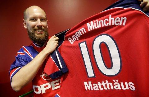 Haugesund 0404 2017 André Torgersen ivrig Bayern München supporter