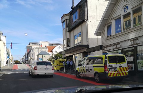 ULYKKE: Klokken 14.45 mandag rykket nødetatene ut til en trafikkulykke i krysset Sørhauggata/Skjoldavegen i Haugesund sentrum.