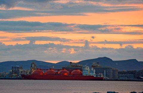 MELKØYA: Hammerfest LNG.