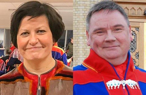 IMPONERT OG GLAD: Ap-ordfører Svein Atle Somby i Karasjok trodde knapt det han hørte da parti- og ordførerkollega Helga Pedersen snakket samisk på møtet da hadde med ordføreren i Utsjok.