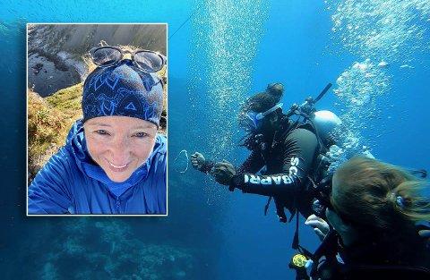 Torill Skår på dykk i Maafushi i Maldivene.